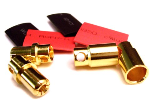 Bullet Connectors - 8mm Gold-Plated - 2 Pairs - 1