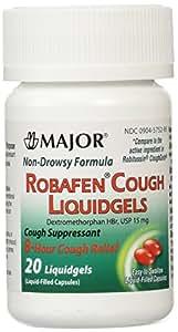 Robafen Cough Liquidgels Dextromethorphan HBr, USP 15mg, 20 Liquidgels