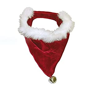 Kyjen PP01863 Santa Bandanna Dog Bandanna Holiday Pet Accessory, Medium, Red