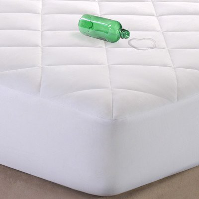Quiet Nights 300Tc Waterproof Mattress Pad Size: Twin Extra Long front-118152