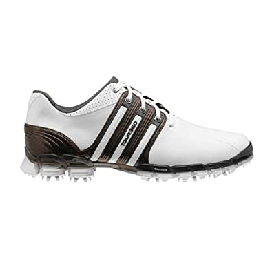 adidas AD Tour 360 Mens Golf Shoes, White / Black / Metalic Silver, 7.5 W (US)