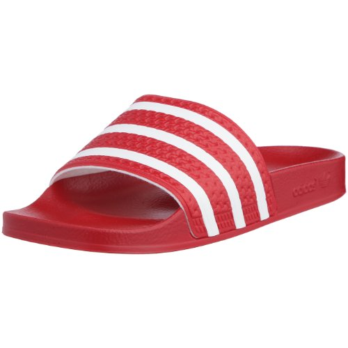 adidas Originals ADILETTE 280647, Sandali unisex adulto, Rosso, 40 2/3