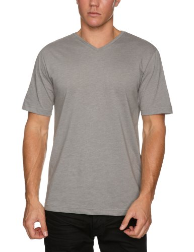 Quiksilver Splinter Plain Mens T-Shirt Medium Grey Heather Small
