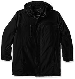 Calvin Klein Men\'s Tall Polyester Bonded, Black, Large/Tall