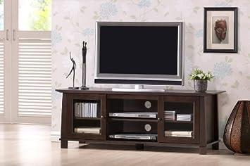 Havana Brown Wood Modern TV Stand (Plasma)