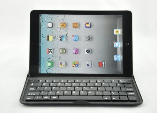 Ivso® Slim Bluetooth Keyboard / Stand / Carrying Cover For Ipad Mini (Black Keys)