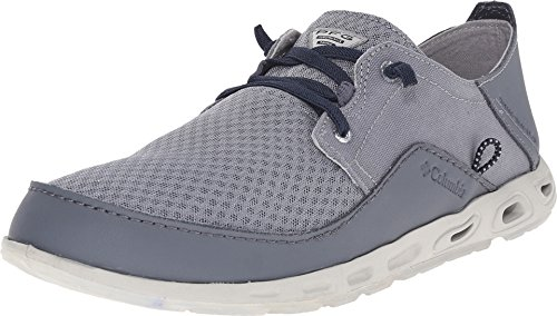 Columbia Men's Bahama Vent PFG Casual Boat Shoes, Grey Leather, 10 M (Columbia Bahama Vent Fishing Shoe compare prices)