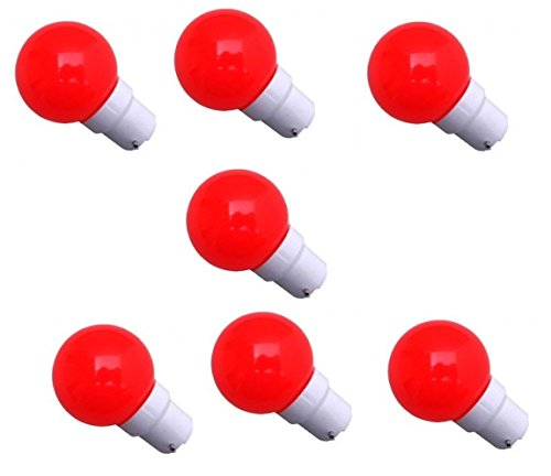 0.5 W LED Light Bulbs Red (Set of 7)