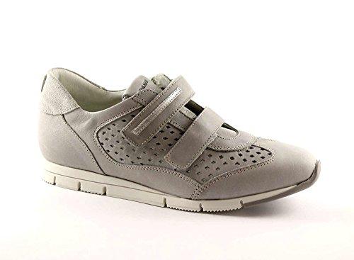 GRUNLAND ATOM SC1674 grigio scarpe donna sneakers strappi pelle 39