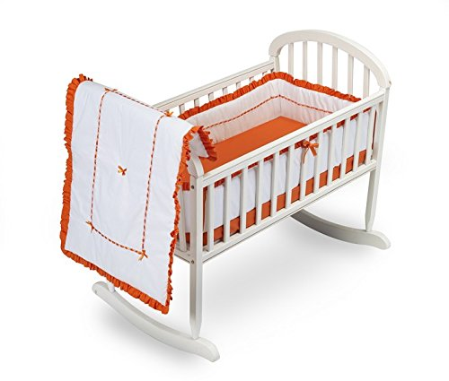 Baby Doll Unique Cradle Bedding Set, Orange