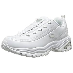 Skechers Sport Women's Premium-Premix Slip-On Sneaker, White, 8.5 M US