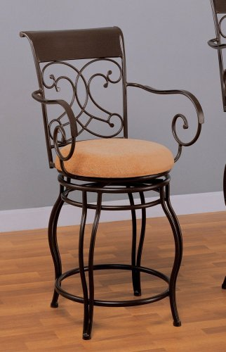 24 Quot H Counter Height Stool With Twin Leg Black Metal Finish