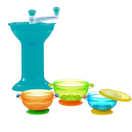 Munchkin Food Mill With 3 Count Suction Stay-Put Bowls front-546589