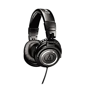 Audio-Technica ATH-M50 Professional Studio Monitor Headphones with Coiled Cable (Discontinued by Manufacturer)