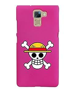 KolorEdge Back Cover For Huawei Honor 7 - Pink (5851-Ke15093Honor7Pink3D)