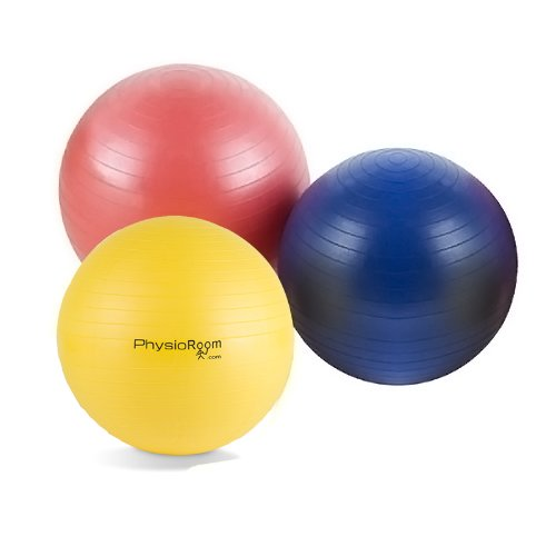 PhysioRoom Gym/Swiss/Yoga Ball With Free Foot Pump