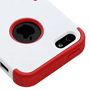 Mybat Iphone5Hpctuffso025Np Premium Tuff Case For Iphone 5 - 1 Pack - Retail Packaging - Ivory White/Red