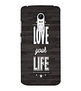 EPICCASE Love your life Mobile Back Case Cover For Lenovo Vibe X3 (Designer Case)