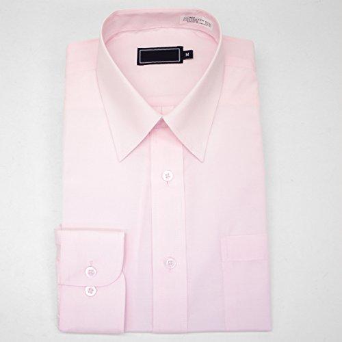 セミワイドカラー 長袖ワイシャツ カラーシャツ メンズ 長袖 ワイシャツ Yシャツ [ドレスシャツ][レギュラーカラー]