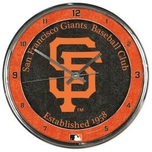 San Francisco Giants Round Chrome Wall Clock by Hall of Fame Memorabilia