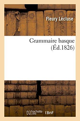 Grammaire Basque (Langues)  [Lecluse-F] (Tapa Blanda)