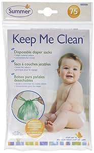 Summer Infant Keep Me Clean Disposable Diaper Sacks, Green