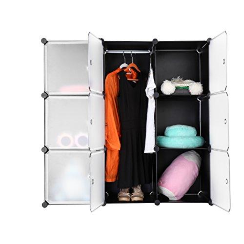 langria stufenregal 9 kubus regalsystem lagerregal kleiderschrank garderobenschrank f r kleidung. Black Bedroom Furniture Sets. Home Design Ideas