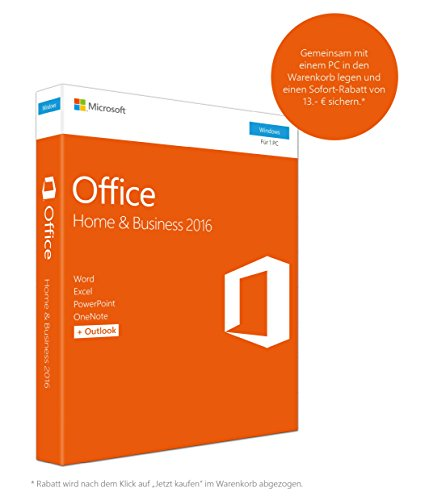Microsoft MS Office 2016 Home & Business [DE] PKC2