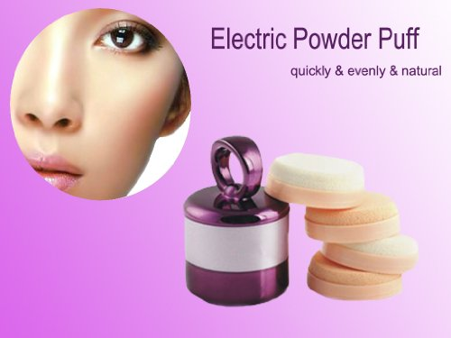 Christmas Gift!!! Electric Make Up Puff + 3 Pcs Wet Powder Puff + 2 Pcs Dry Powder Puff, Can Work With Sun Cream, Bb Cream, Wet Foundation, Dry Foundation, Makeup Powder Etc, The Best Gift Idea