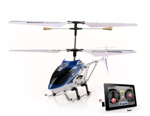 3-Channel RC Helicopter Compatible with iPhone, iPad, iPod Infrared Remote Controller (Blue)