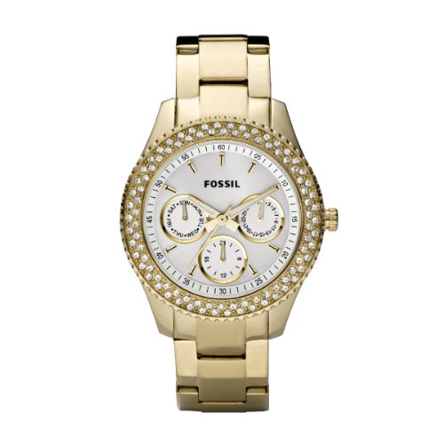 Fossil Ladies Gold Ip Multi-Eye Analogue Stella Watch - Es2861