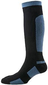 SealSkinz Men's Mid Weight Knee Length Socks - Black, Small