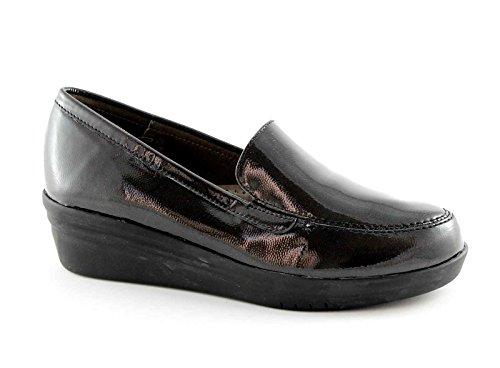 GRUNLAND VATI SC2631 antracite scarpe donna zeppetta mocassino 37