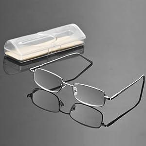 Lightweight Full Frame Reading Glasses : Amazon.com: 1 Silver Tone Stainless Steel Aluminum Full ...