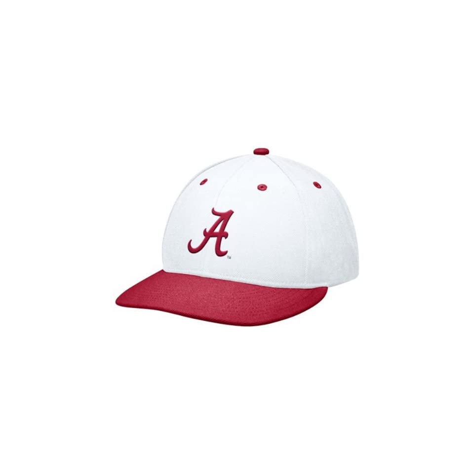 21078cba031 Nike Alabama Crimson Tide White Crimson Baseball Authentic 643 Fitted Hat