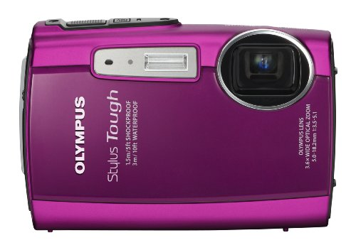 Olympus Stylus Tough 3000 12 MP Digital Camera with 3.6x Wide Angle Zoom and 2.7-inch LCD (Pink)