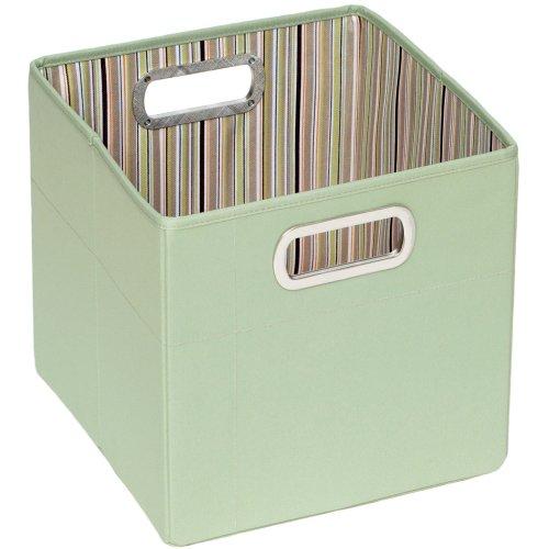JJ Cole Storage Box Tall (green Stripe)