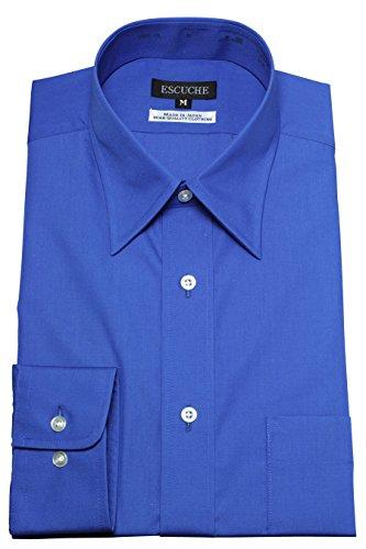 ozie 〔00002046〕 形態安定 レギュラーカラー ドレスシャツ ブルー 4Lサイズ