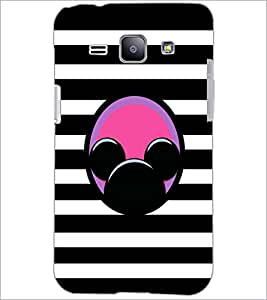 PrintDhaba Mickey Impression D-2001 Back Case Cover for SAMSUNG GALAXY J1 (Multi-Coloured)