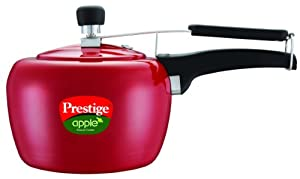 Prestige Apple Aluminum Red Color Pressure Cooker, 5-Liter by Prestige