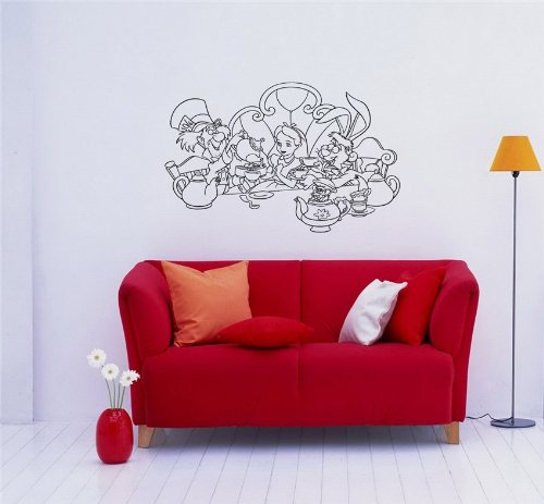 Alice in Wonderland Wall Mural Sticker Baby Room D36