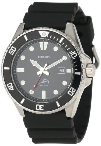 Casio Men's MDV1061A Black Analog Anti Reverse Bezel Watch Picture