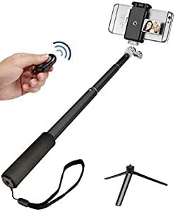 selfie stick pro kit best monopod w bluetooth remote mirror tripod for phone. Black Bedroom Furniture Sets. Home Design Ideas