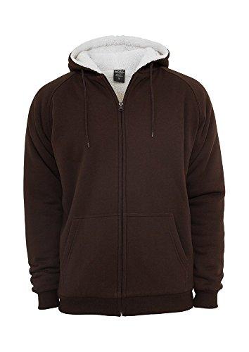 Urban Classics Winter Zip Hoody, Color:bro/ecru;Größe:M