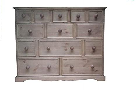 Wye Pine Traditional Merchant Chest - Finish: Wax - Stain: Waterbased