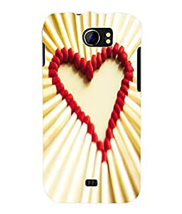 Fuson 3D Printed Valentine Designer Back Case Cover for Micromax Canvas 2 A110 / A110Q - D631