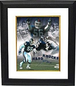 Buy Lawrence Taylor Signed Photo - 16X20 HOF 99 Custom Framed Hard Knocks Collage)- JSA Hologram -... by Sports Memorabilia