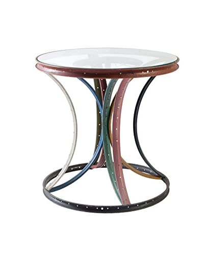Phillips Collection Bicycle Rim Side Table, Multi