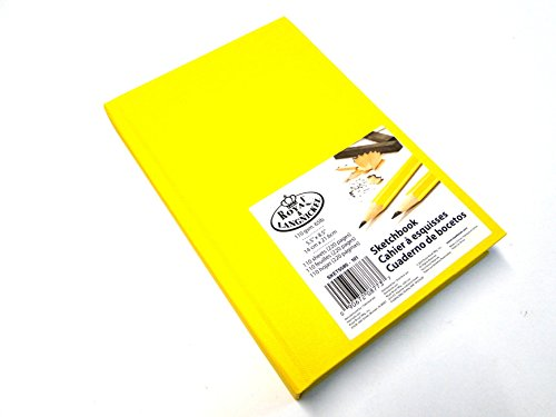 royal-langnickel-sketchbook-110-gsm-65lb-110-sheets-220-pages-yellow-by-royal-langnickel
