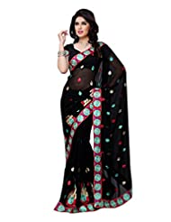 Diva Fashion-Surat Women's Georgette Embroidery Saree-DFS496A